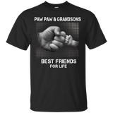 Paw Paw and Grandsons Best Friends For Life TShirt Fathers Da