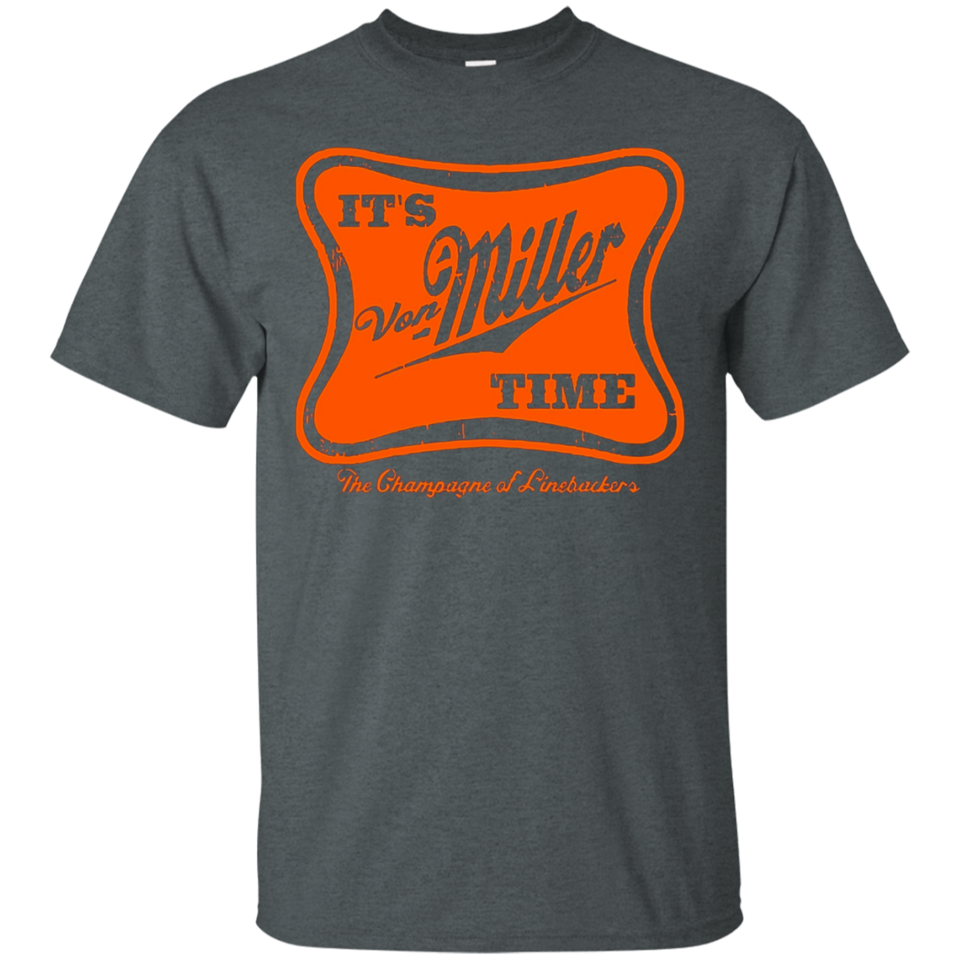 Its Vo-n Mill-er Time Denver Bron-cos Mens T-shirt