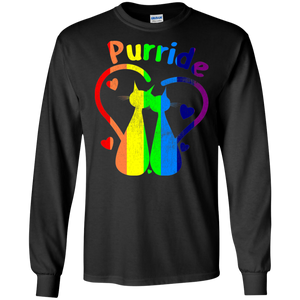 Purride Sweater LGBT Funny Gay Pride Cats love Sweatshirts