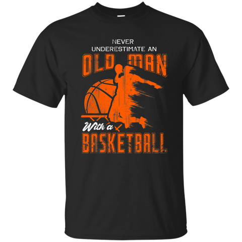 NewmeUp Men's Never Underestimate An Old Man With a Basketball Cool Tshirts