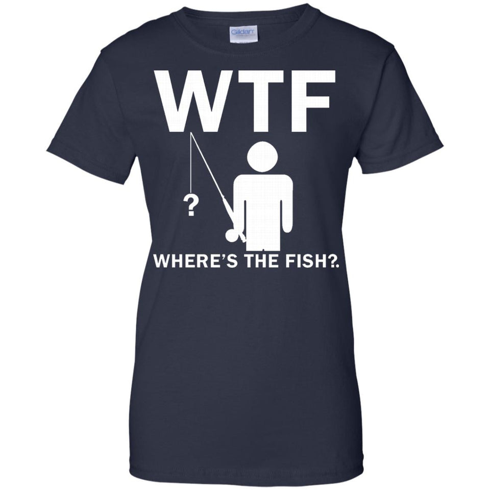 Mens Where's The Fish Funny Father's Day Birthday Gifts Fishing