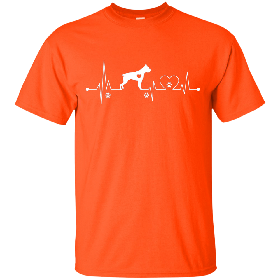 Heartbeat Dog Boxer T-shirt Birthday Gift