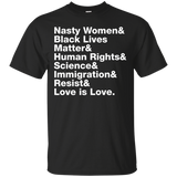 Love Is Love Resist T-shirt Black Lives _ Be Nasty Rights