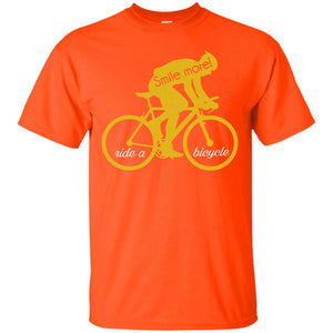 Smile more_ride a bicycle shirt