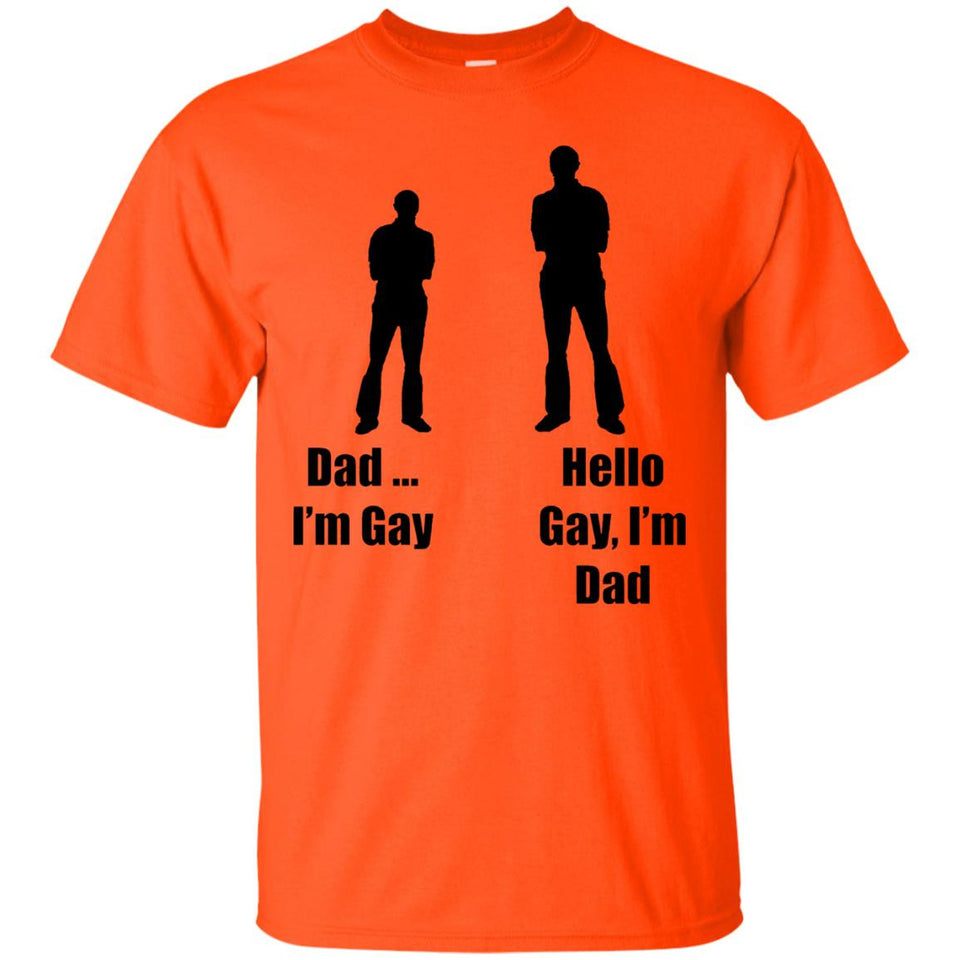 Men's Novelty Tees - Hello Gay, I'm Dad Joke T-Shirt