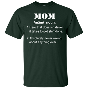 Mother day gifts- funny mom definition mother shirt