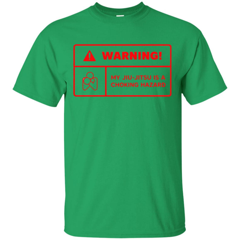 Warning Choking Label BJJ Tee Brazilian Jiu Jitsu T Shirt - Newmeup