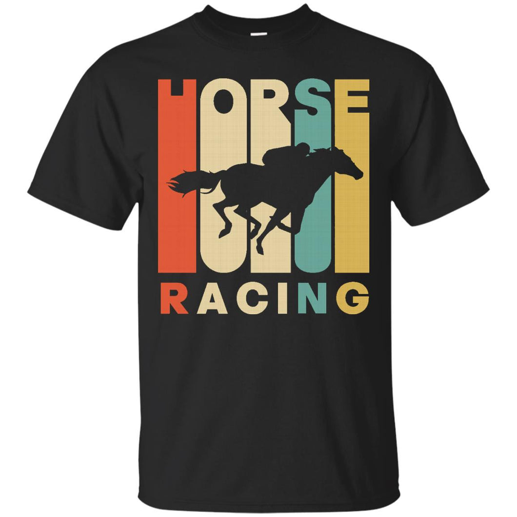 Vintage Style Horse Racing Silhouette T-Shirt - Newmeup