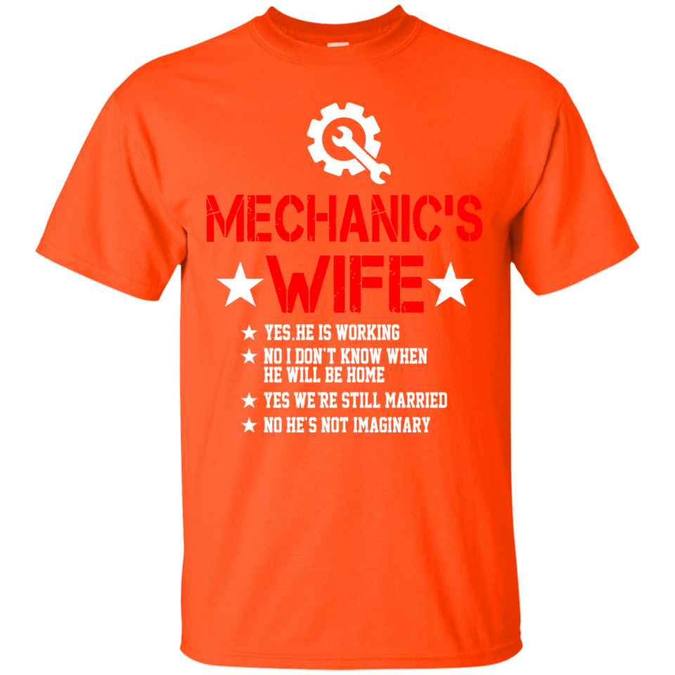 Mechanic's Wife Funny Shirt Gift - Newmeup
