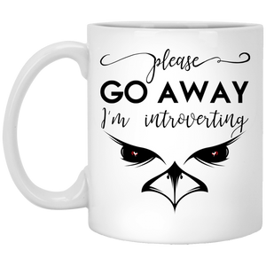 NewmeUP 11 Oz Coffee Mug Please Go Away Im Introverting Mug