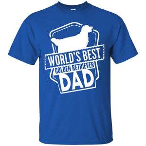 Men's World's Best Golden Retriever Dad Funny Cute Dog T-Shirt