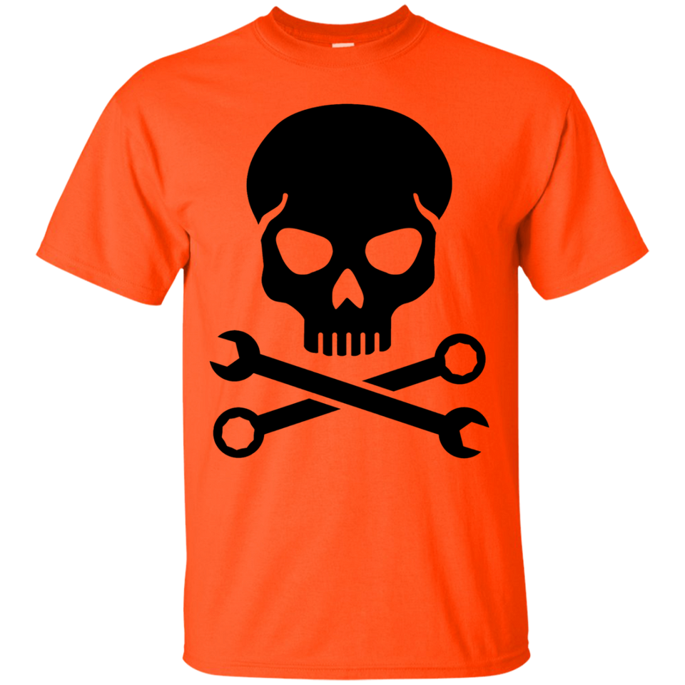 Mechanic skull T-Shirt(Black) - Newmeup