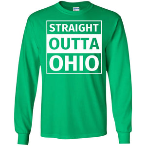 Straight Outta Ohio Funny T-Shirt