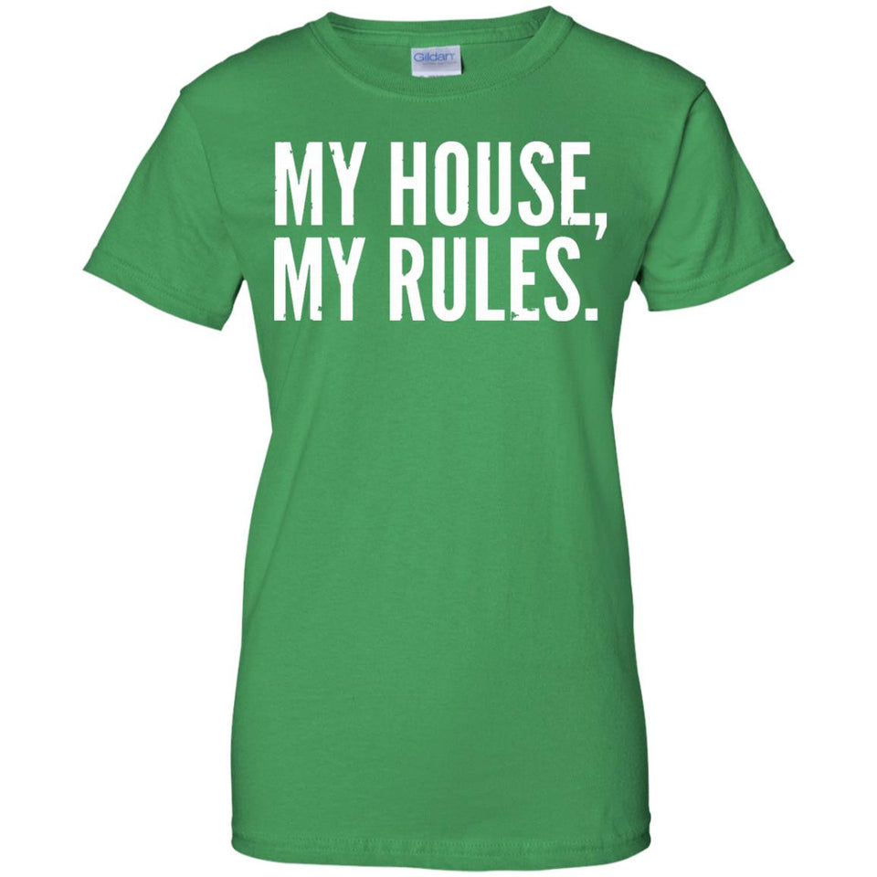 Mens Funny Father's Day Shirt - My House, My Rules - Dad Shirts