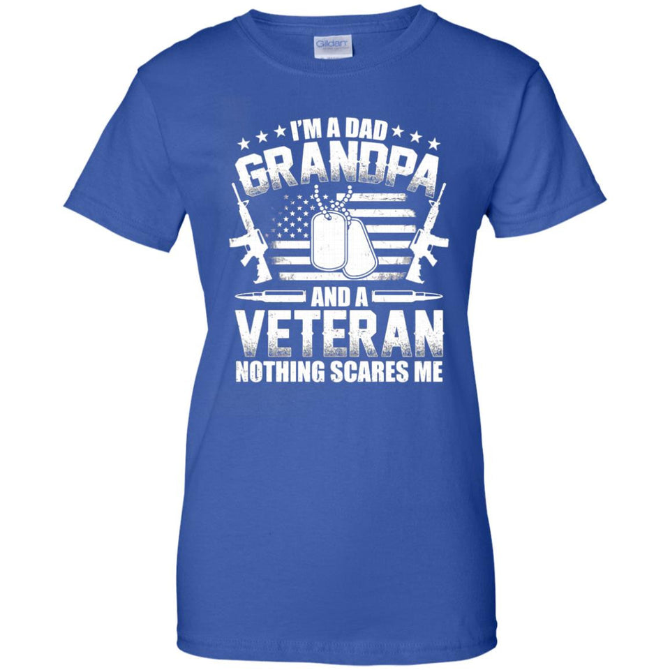 I'm A Dad Grandpa T-Shirt Veteran Father's Day