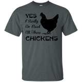 Yes I Really Do Need All These Chickens T Shirt Black - Newmeup