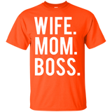 Women's Wife Mom Boss Mothers Day T-Shirt - Newmeup
