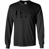 LGBT Funny Shirt Liberty Guns Beer and Ta Tas Black SWEATSHIRT - newmeup