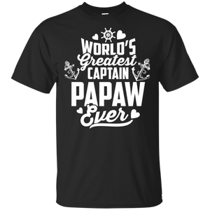 Mens World's Greatest Captain Papaw Ever T-Shirt Father's