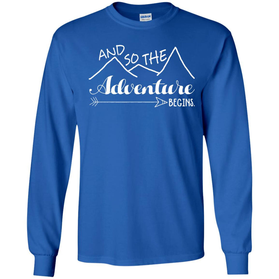 Camper Love Camping Gift, And So The Adventure Begin T-Shirt - Newmeup