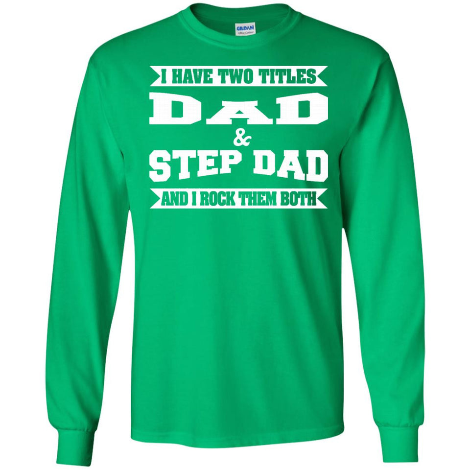 Mens World's Best Step Dad T Shirt Father's Day T-Shirt Gift