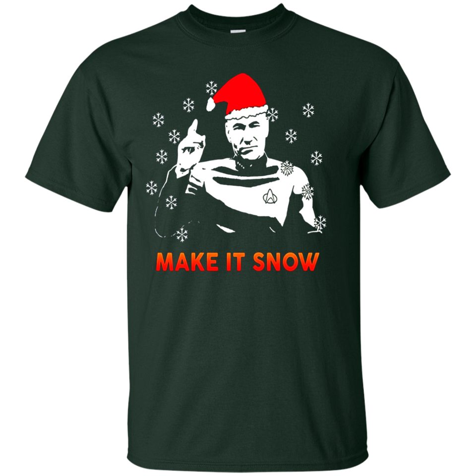 STAR DATA TREK MAKE IT SNOW T-SHIRT - newmeup