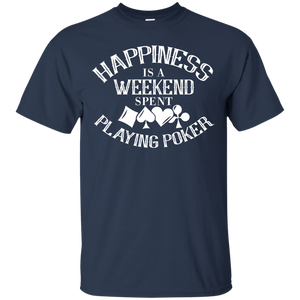 NewmeUp Men's Happiness Shirts Weekend Spent Playing Poker T-shirt