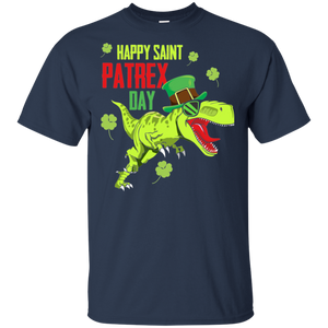 St Patricks Day Irish Leprechaun Dinosaur T Rex Boys T Shirt