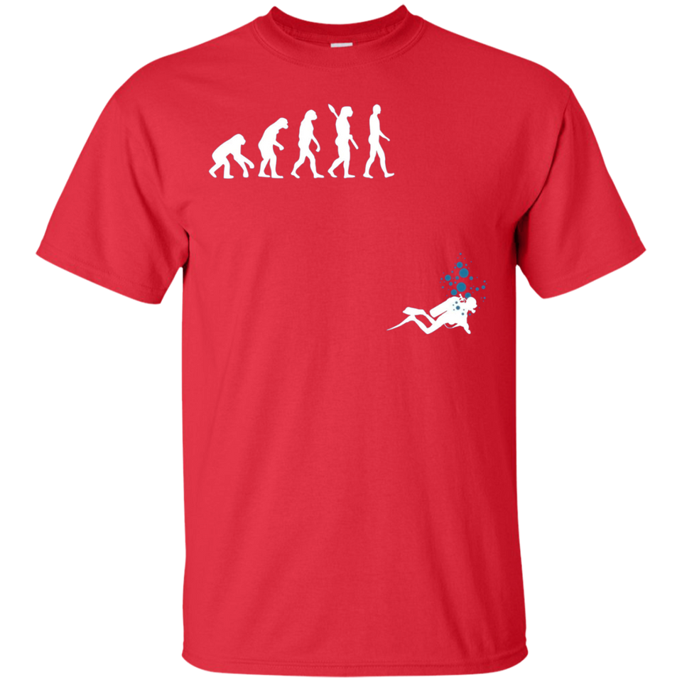 Evolution of Man Funny Scuba Diving T-Shirt - Newmeup