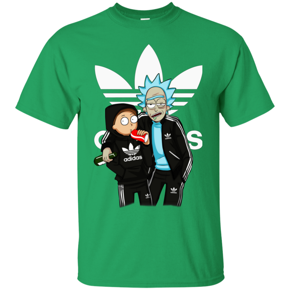 Newmeup Printed Men's Rick And Morty Adidas Funny T Shirt