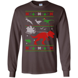 T Rex Santa T Rex Attack Deer Ugly Christmas Sweater SWEATSHIRT - newmeup