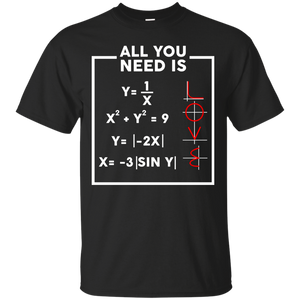 NewmeUp Men's Valentine's Day Shirts All You Need Is Love Math T-shirts