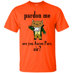 Pardon me Are you Aaron Purr Sir Hamilcat T-Shirt