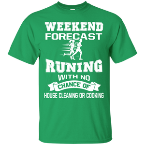 Men's Weekend Shirts Weekend Forecast Running With A Chance Of Drinking T shirt