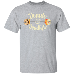Donuts and Deadlifts Funny Workout Doughnut T-shirt