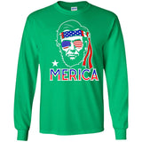 Merica Funny Abe Lincoln 4th of July Hip American T-shirt