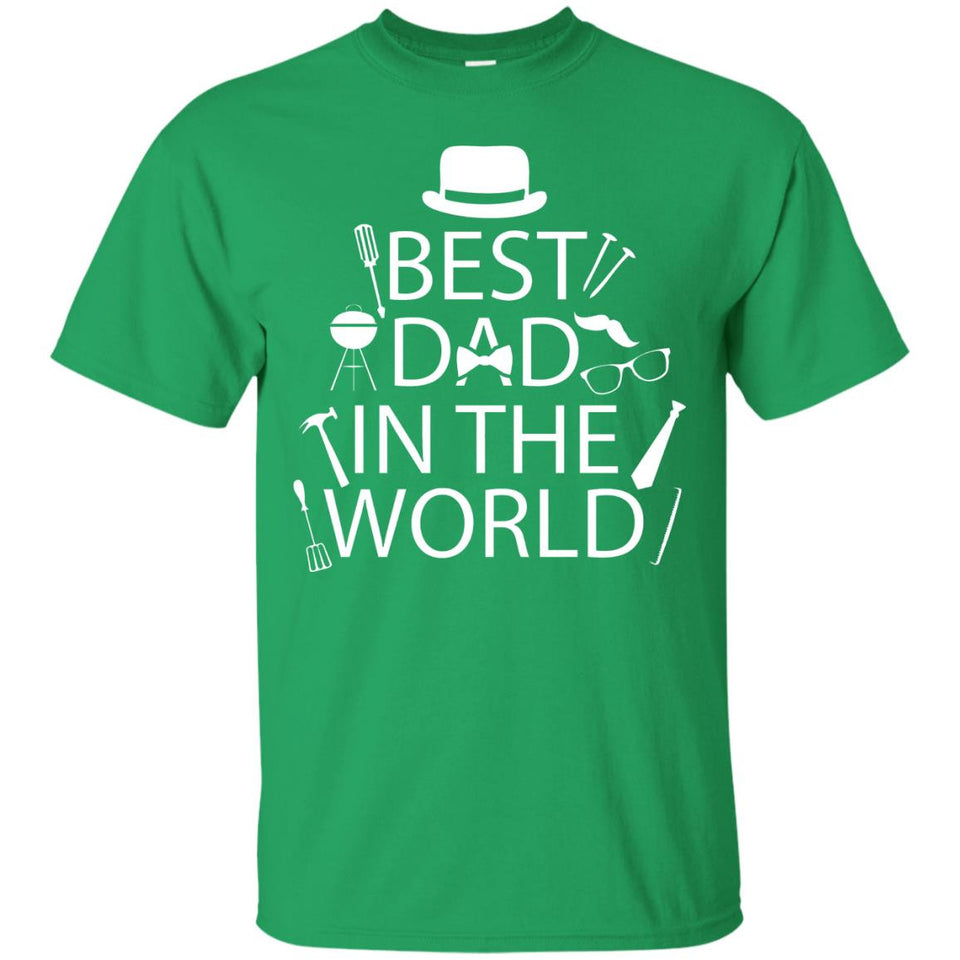 Best Dad In The World Fathers Day Shirt Tee BBQ Tools Hat - Newmeup