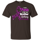 I Wear Purple For Brother Epilepsy Awareness T-Shirt