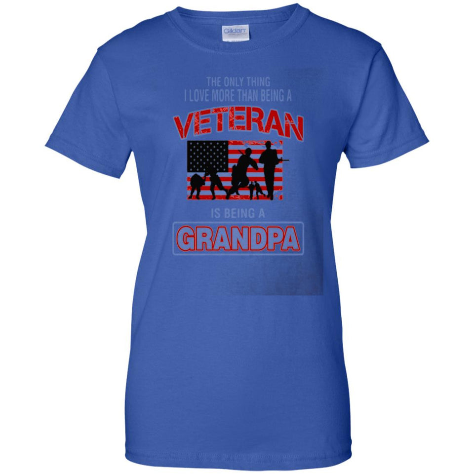 Mens The Only Thing I Love More Than Veteran Is Being A Grandpa