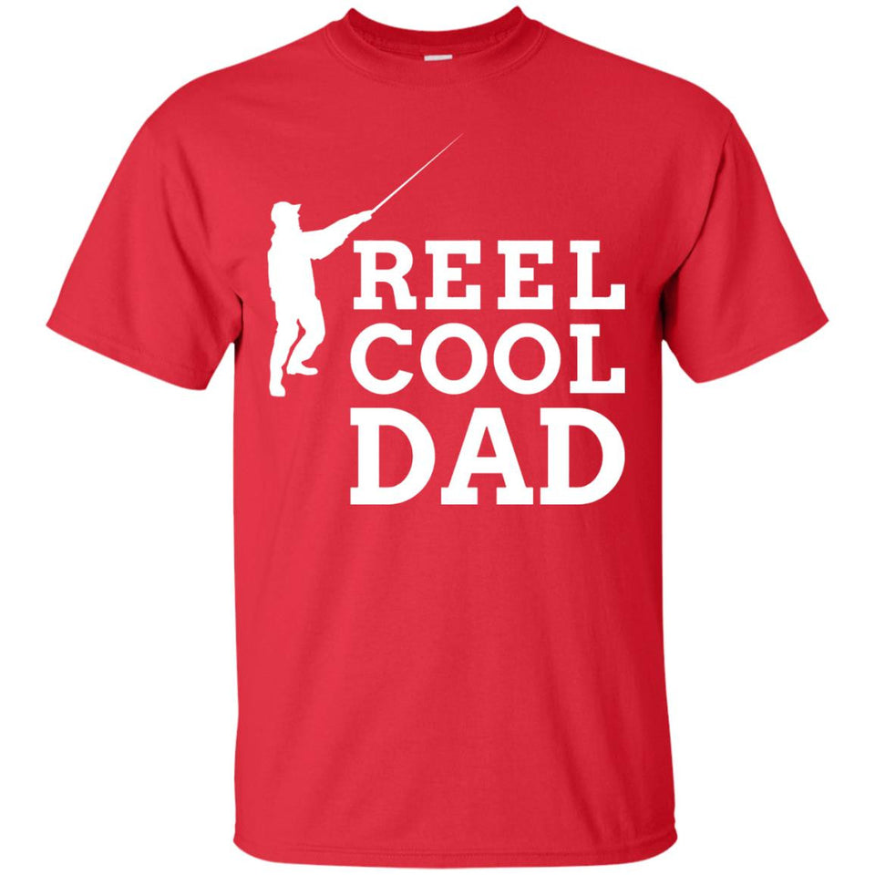 Men's Father's Day Fishing T Shirt for Fisherman - REEL COOL DAD