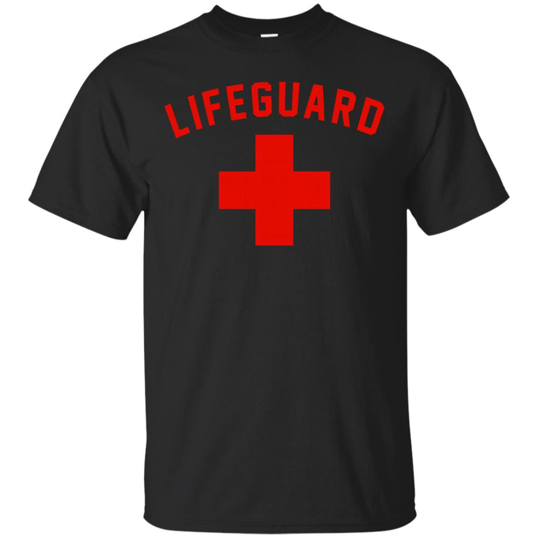 Lifeguard Red _ White Swimming Pool T-Shirt Short Sleeve Tee