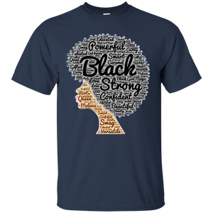 Afro Word Art T-Shirt for Black History Month - Newmeup