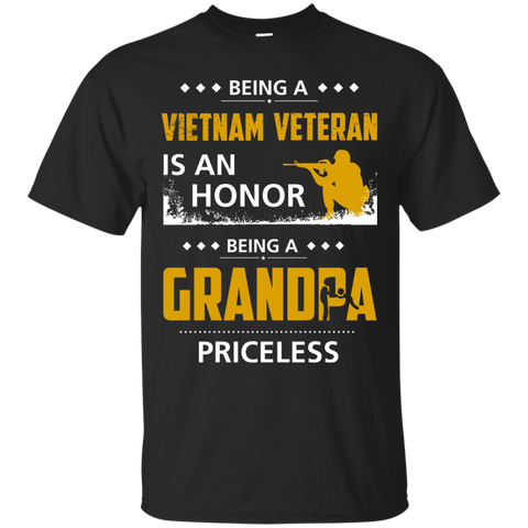 Men's Vietnam Veteran Is An Honor Being A Grandpa Priceless T-Shirts
