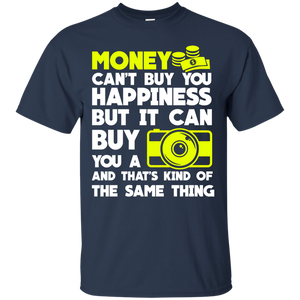 NewmeUp men's Camera Shirts Money Can Buy Yoy A Camera Tshirts