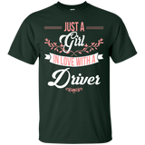 Just A Girl Fall In Love With A Driver T-shirt Driver's Girl