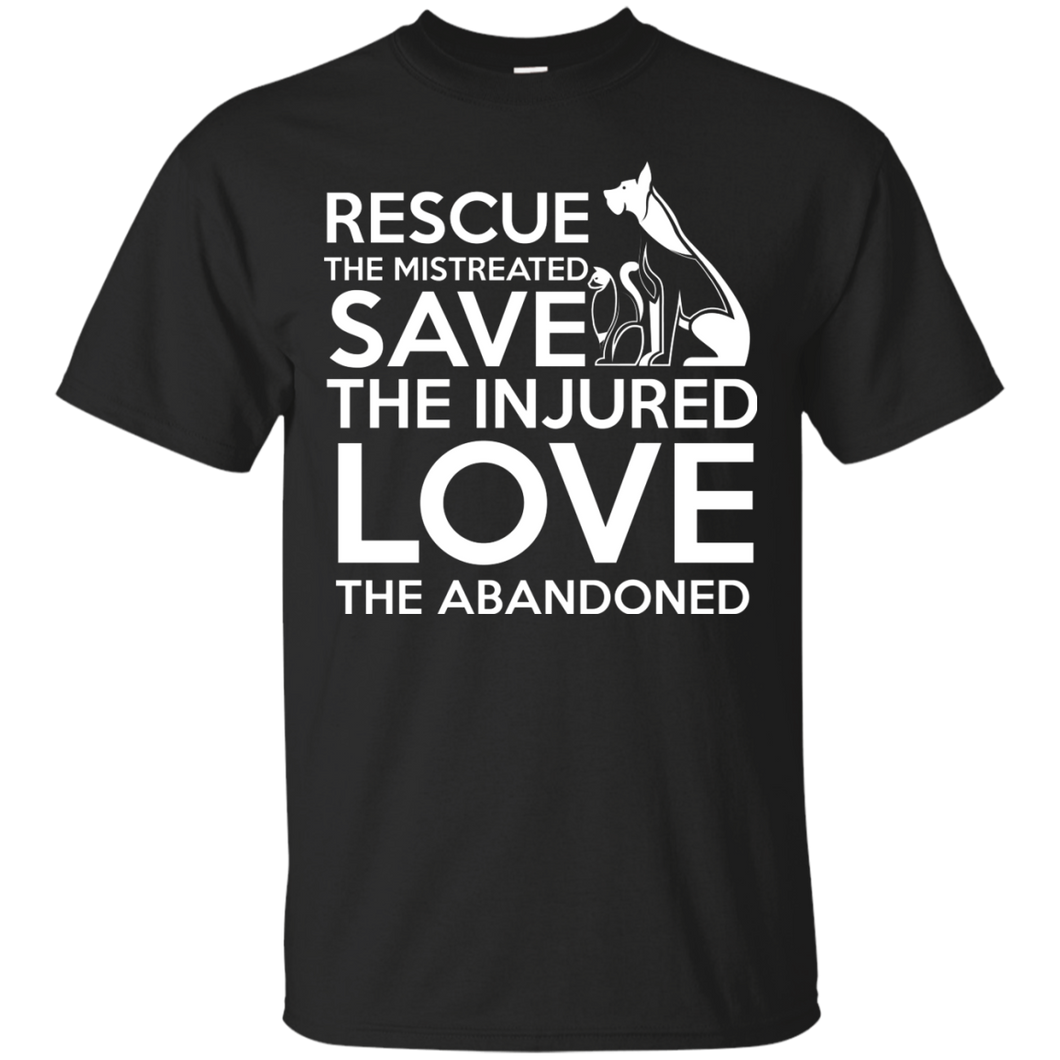 NewmeUp Men's Dog Shirts Rescue The Mistreated Save The Injured Love The Abandoned Tshirt