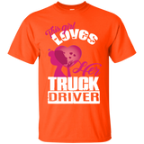 This Girl Loves Her Truck Driver TShirt,Truck Driver T Shirt - Newmeup