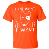 I do what I want Bull Terrier lover t shirt gift