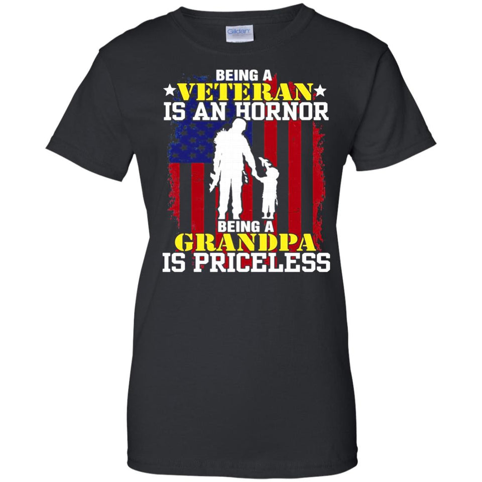 Being A Veteran Is An Honor Being A Grandpa Is Priceless - Newmeup