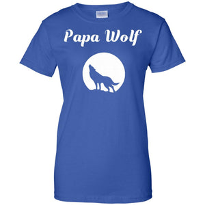 Mens Cool Papa Wolf T-shirt Gift for Daddy!